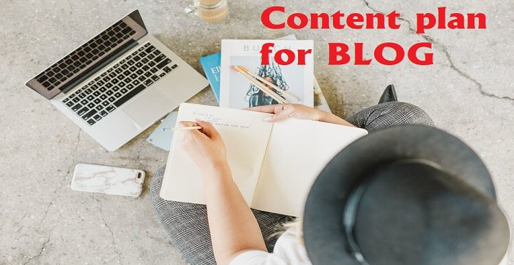 content plan for your BLOG